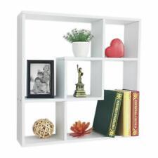 Square Floating Shelf Bookshelf Wall Mount Shelf Display Home Decor White 5Cubes