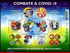 20-08 BRAZIL 2020 FIGHTING THE PANDEMIC, EPIDEMIC, PREVENTION TO THE VIRUS, MNH