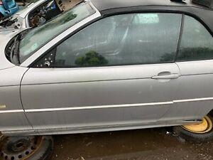 BMW 3 E46 Convertible 2000-2007 Passenger Side Complete Door Titansilber Silver.