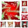 2019 1pc Merry Christmas Pillow Cases Comfy Sofa Cushion Cover Home Decor Soft
