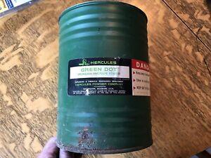 vintage Hercules Green dot  empty powder can