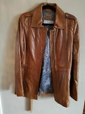 Marc New York Tan Leather Jacket Andrew Marc Size Medium