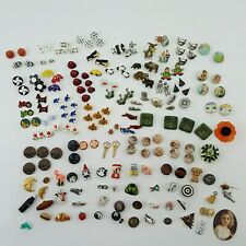 Vintage Collectible Buttons Novelty Mixed Lot 150+