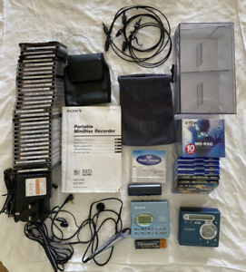Sony Walkman Mini Disc Player/Recorder MZ-R91 & MZ-R700 Plus Discs & Accessories