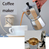 Coffee Maker Stainless Steel Moka Espresso Coffeemake Machine 1-Cup 6-Cup 12-Cup