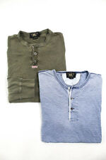 Lot 2 Men's Cotton Double RL Ralph Lauren Shirts Size Large: Blue, Green