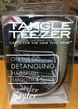 Tangle Teezer On-The-Go Compact Styler Metallic Silver Damaged Box