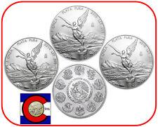 2014, 2015, 2016 Mexico Silver Libertad -- 3 Mexican Coins in Airtites