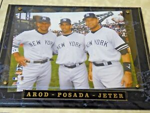 Rare  Baseball Yankees Big 3 Plaque Arod, Posada, Jeter