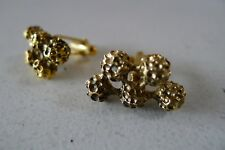 Vintage retro 70s atomic gold toned nugget Cufflinks excellent
