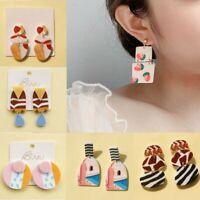 Acrylic Geometric Ear Studs Dangle Drop Earrings for Women Fashion Gift Jewelry
