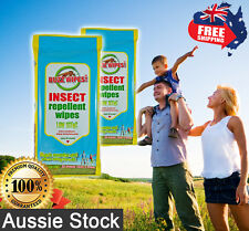 4 x Insect Repellent Wipes Low Scent Buzz Wipes 20pk 18cmx20cm