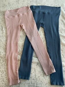 Free People Movement High Rise Full Length Hop To It Leggings People Pink/Blue