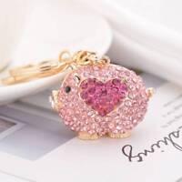 Cute Pig Shape Pendant Key Chain Rhinestone Car Keychain Fashion Key Holder