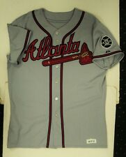 2007 Edgar Renteria Braves Game Used Jersey Autographed -