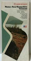 Rand McNally Vintage Maine New Hampshire Vermont Travel Guide Map