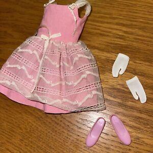Vtg Barbie: Skipper Pak Dress Party Pink Outfit