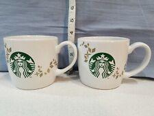 Starbucks 14 oz Coffee Mugs Set of 2 Holiday Collection 2013