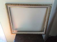 cadre tableau ancien en bois XXe-s pour toile 60 x 50.2cm