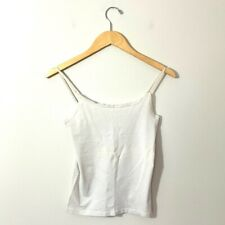 Ann Taylor White Cami Basic Women's XS White Professional Career Wear Tank Top