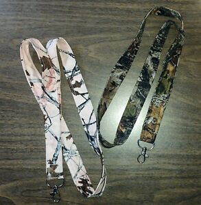 Handmade Fabric Lanyard Neck Strap ID Badge Holder Assorted CAMO *Choice*