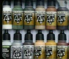 12 Vallejo Model Air Acryl Airbrush Farben Verstellbar für Modelleisenbahnen
