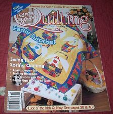 Quick & Easy Quilting (Volume 21, Number 2) April 1999 Free Shipping