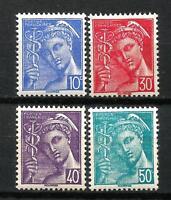 FRANCE 1942  YT n° 546 à 549  Neufs ★★ luxe / MNH
