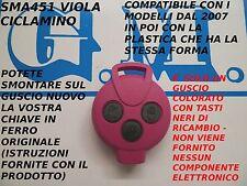 COVER VIOLA CICLAMINO A 3 TASTI NERI PER CHIAVE TELECOMANDO SMART MHD FORTWO 451