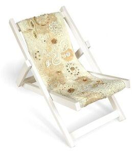 Model Deckchair Kit - Design your own canvas! Crochet, macrame, mixed media etc