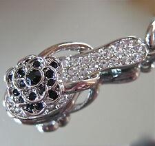 Black and White Slipper Shoe Key Ring Key Chain with Swarovski Rhinestones, New