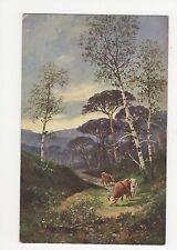 Cattle, Rural, Faulkner Art series 1230 # 2 Postcard, A702