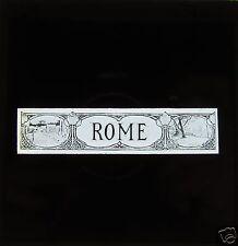 Glass Magic lantern slide  ROME TITLE SLIDE  C1900 ITALY