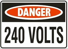 Danger 240 volt Sticker  extra small (danger240V sml)