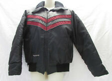 Vintage POLARIS Snowmobile Jacket Winter Large Made in USA Gray Black Red