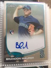 2013 Topps Chrome #102 Brandon Maurer Seattle Mariners Auto Rookie Baseball Card
