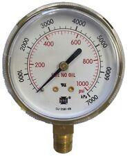 """2.5"""" x 1/4"""" NPT 1000 psi Gauge"""