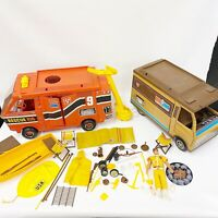 Vintage Mattel BIG JIM SPORTS CAMPER + RESCUE RIG Doll Accessories 1970s
