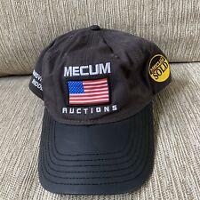 Mecum Car Auctions Cap Gold Bidder USA Flag Hat Louisville 2018 Baseball Trucker