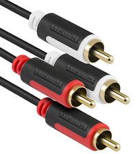 mumbi Cinch Kabel Audio RCA Stecker Verlängerungskabel Verbinder Stereo 5m