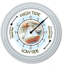 Tide Clock Beach Shell - Times Of Tides -  Ocean Sailing Boating Fishing - GIFT