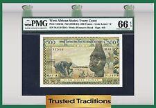 TT PK 102Ak 1959-64  WEST AFRICAN STATES 500 FRANCS PMG 66 EPQ GEM POP ONE