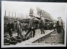 Morris Railway Track Laying Machine   Permanent Way Crew    Vintage Photo Card