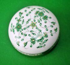 Deckeldose Indisch grün reich  Meissen Porzellan 1. Wahl
