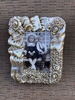 Silver Tones Rose 3D Small  Photo Frame