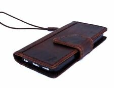 genuine vintage leather case for iphone SE 5s 5c book wallet cover handmade new