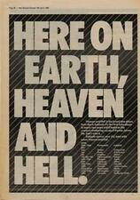Black Sabbath Heaven & Hell Tour Advert NME Cutting 1980