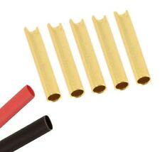 5 x Female RC 2mm Gold Bullet Connector + Heat Shrink Lipo Battery ESC Motor