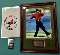 Tiger Woods UDA 16x20 Autographed Framed 2000 PGA Championship Photo W/ Flag
