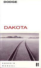 1991 Dodge Dakota Owners Manual User Guide Reference Operator Book Fuses